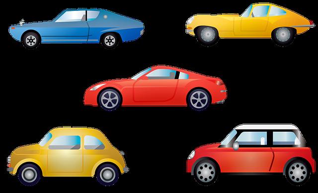 malovaná auta